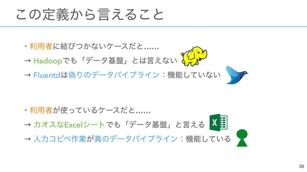 ɾར༻ऀʹ݁ͼ͔ͭͳ͍έʔεͩͱ…… → HadoopͰʮσʔλج൫ʯͱݴ͑ͳ͍ → F...