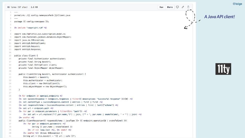 @loige A Java API client!
