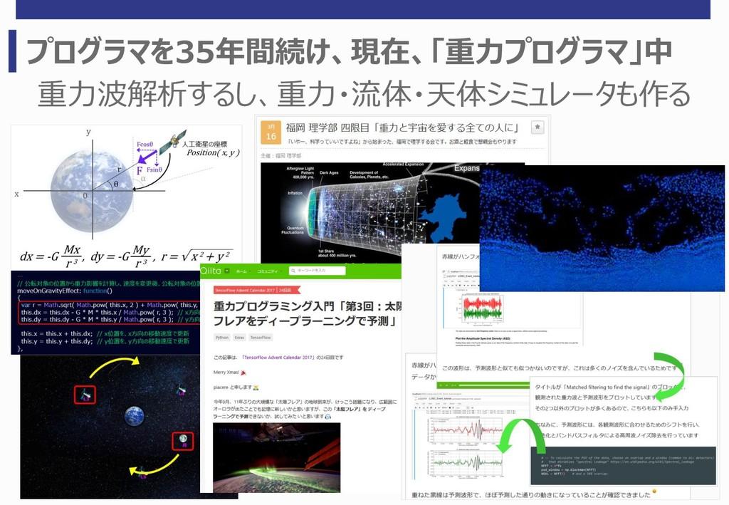 プログラマを35年間続け、現在、「重力プログラマ」中 重力波解析するし、重力・流体・天体シミュ...