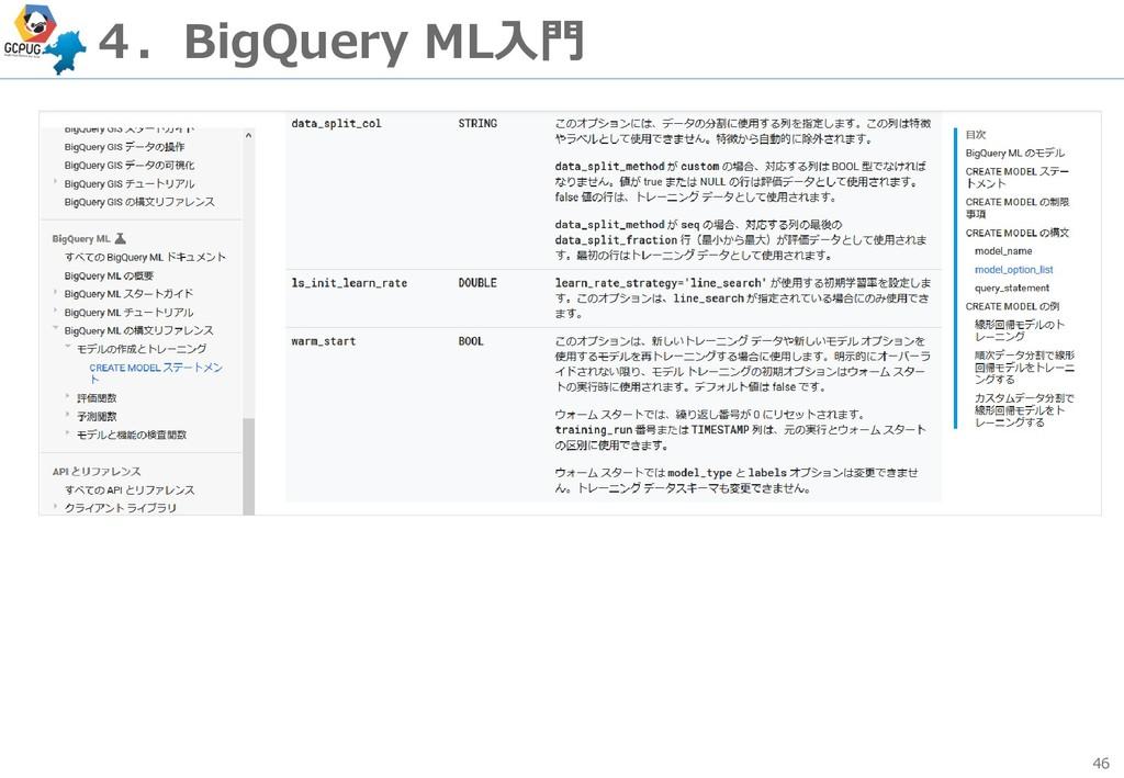 46 4.BigQuery ML入門