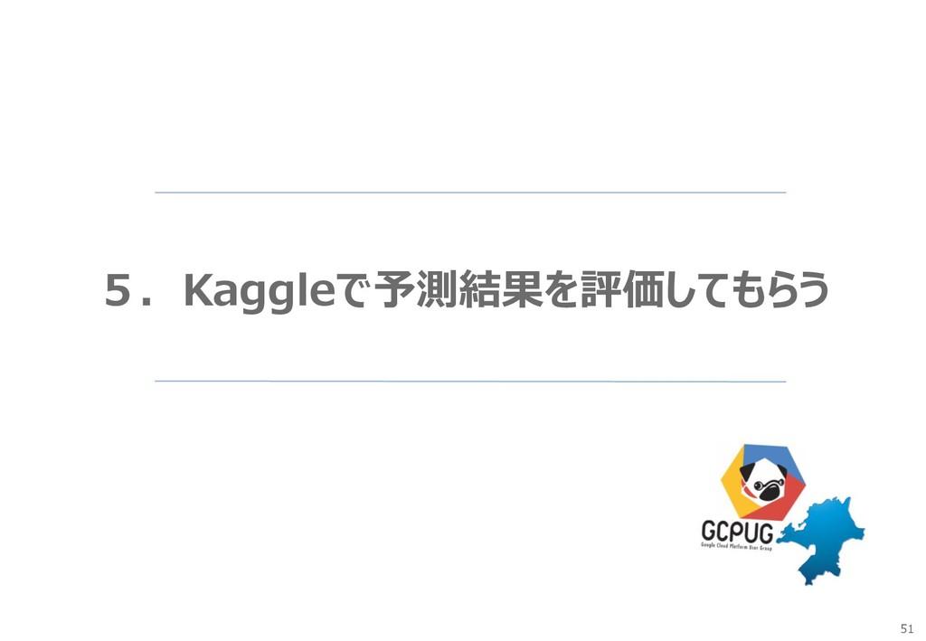 51 5.Kaggleで予測結果を評価してもらう