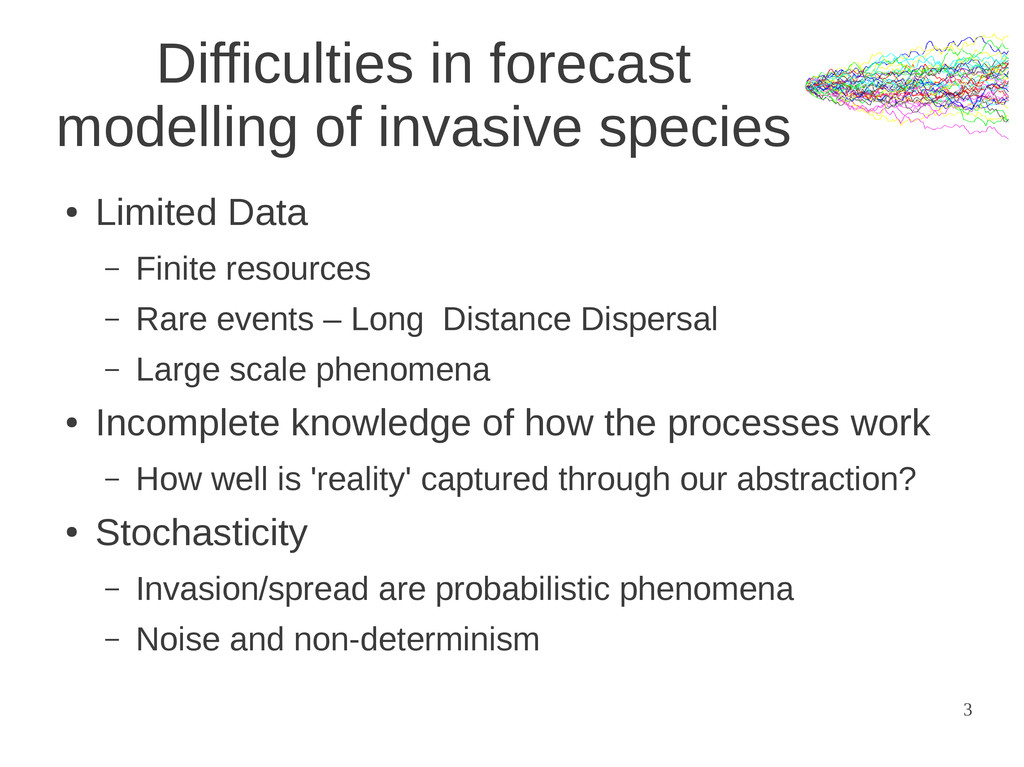3 Difficulties in forecast modelling of invasiv...