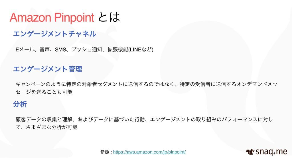 Amazon Pinpoint ͱ Τϯήʔδϝϯτνϟωϧ EϝʔϧɺԻɺSMSɺϓογ...