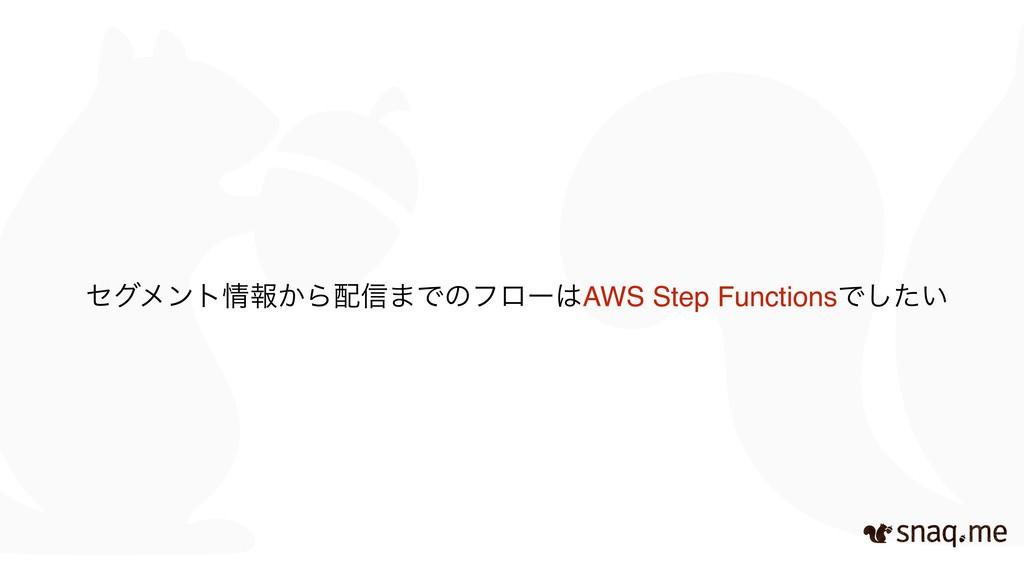 ηάϝϯτใ͔Β৴·ͰͷϑϩʔAWS Step FunctionsͰ͍ͨ͠