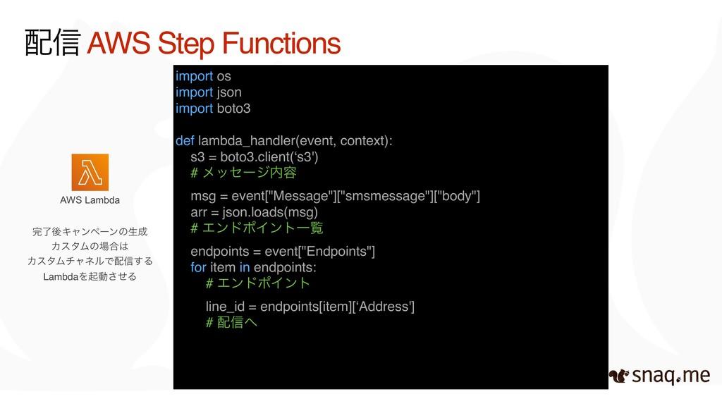AWS Lambda ৴ AWS Step Functions ྃޙΩϟϯϖʔϯͷੜ Χ...