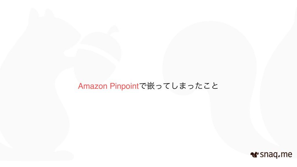 Amazon PinpointͰቕͬͯ͠·ͬͨ͜ͱ