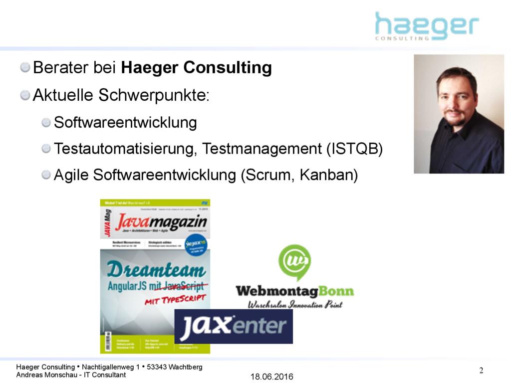 18.06.2016 Haeger Consulting • Nachtigallenweg ...