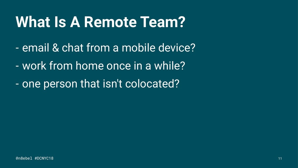 What Is A Remote Team? - email & chat from a mo...