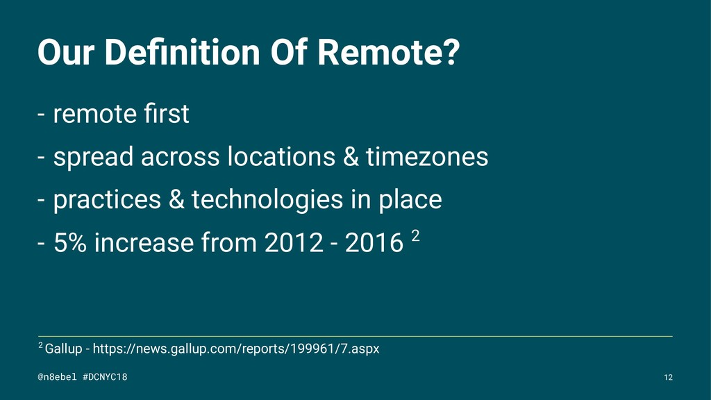 Our Definition Of Remote? - remote first - spread...