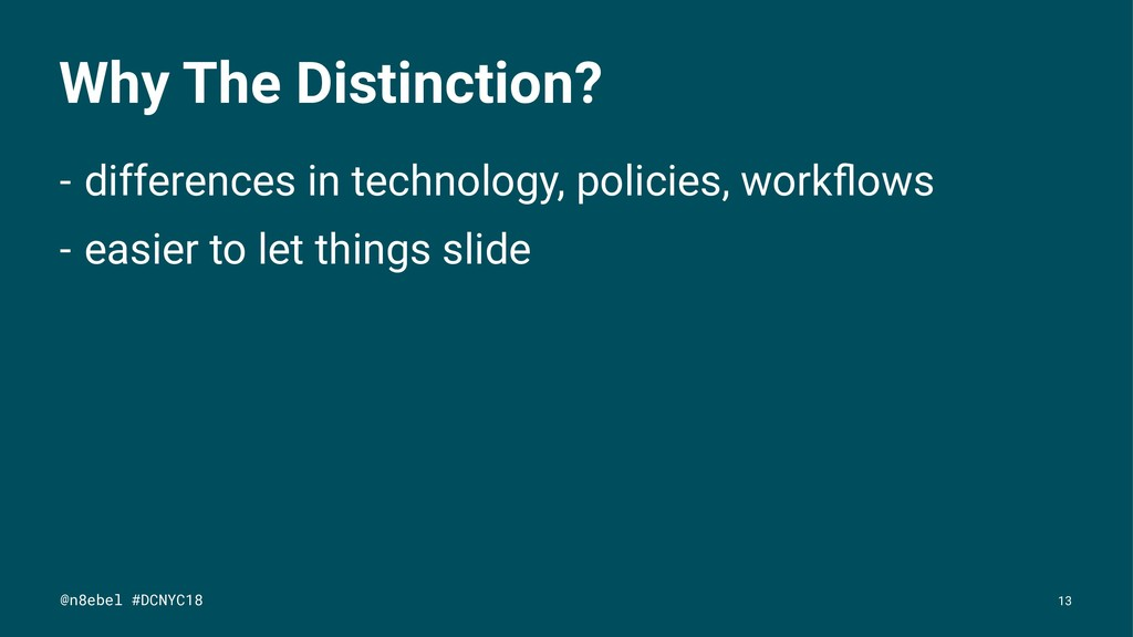 Why The Distinction? - differences in technolog...