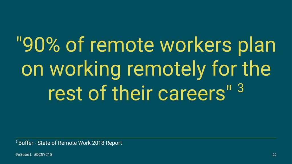"""90% of remote workers plan on working remotely..."