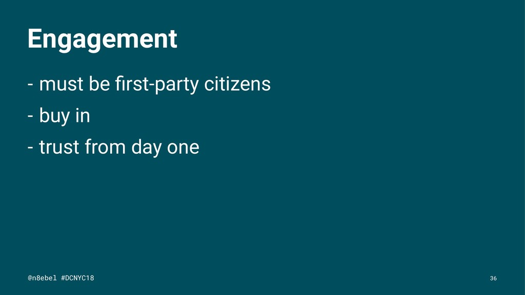 Engagement - must be first-party citizens - buy ...