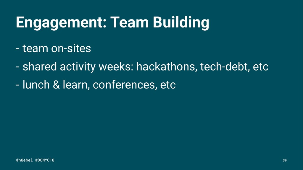Engagement: Team Building - team on-sites - sha...