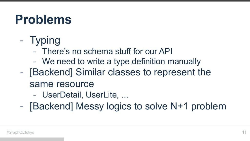 #GraphQLTokyo Problems 11 - Typing - There's no...