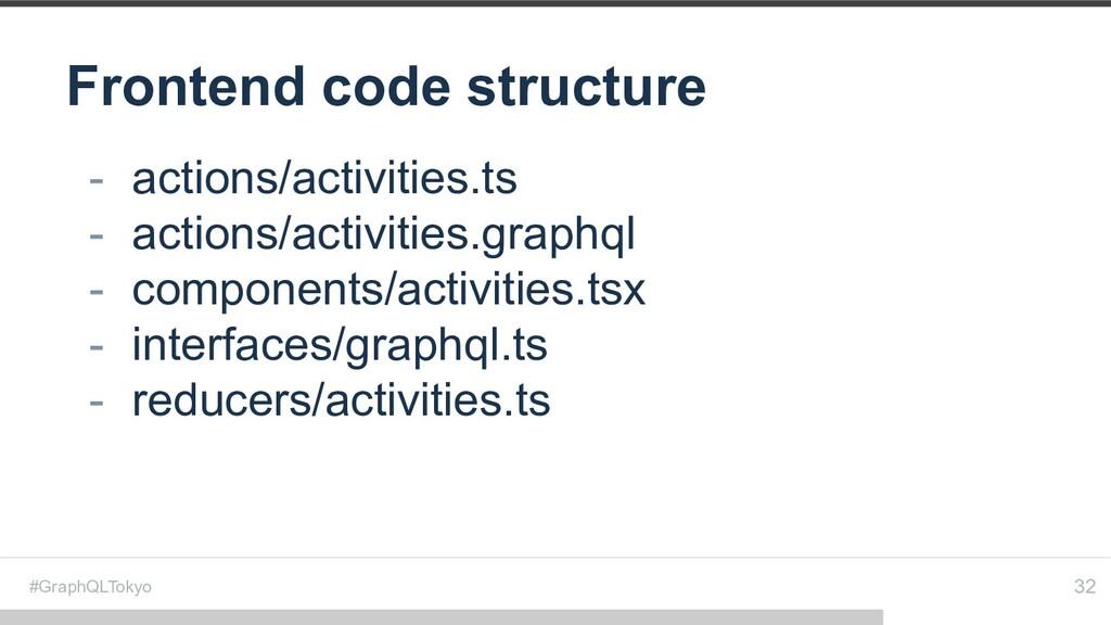 #GraphQLTokyo Frontend code structure 32 - acti...
