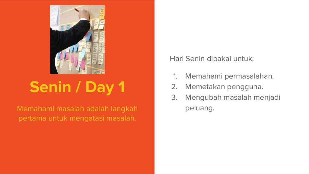 Senin / Day 1 Memahami masalah adalah langkah p...