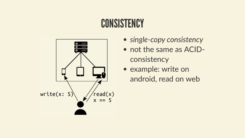 single-copy consistency not the same as ACID- c...