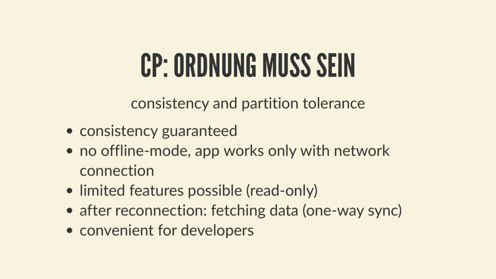 consistency and partition tolerance consistency...