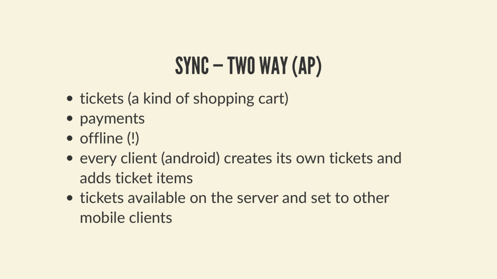 SYNC — TWO WAY (AP) tickets (a kind of shopping...