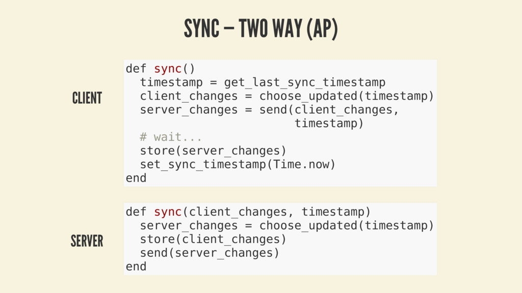CLIENT SERVER SYNC — TWO WAY (AP) def sync() ti...