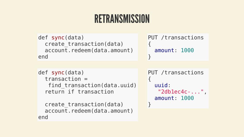 RETRANSMISSION def sync(data) create_transactio...