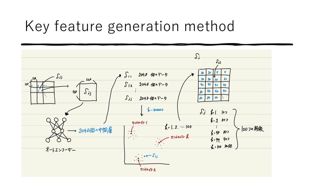 Key feature generation method