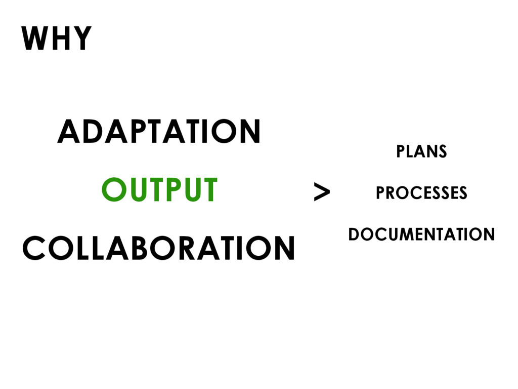 WHY ADAPTATION OUTPUT COLLABORATION PLANS PROCE...