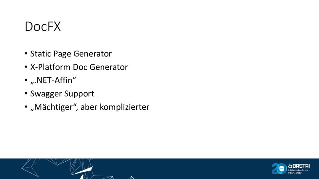 DocFX • Static Page Generator • X-Platform Doc ...