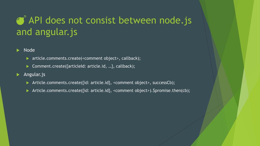 DŽ API does not consist between node.js and angu...