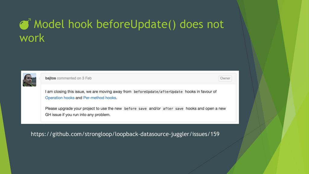 DŽ Model hook beforeUpdate() does not work https...