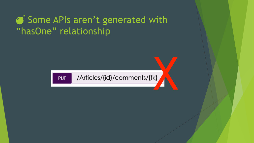 """DŽ Some APIs aren't generated with """"hasOne"""" rela..."""