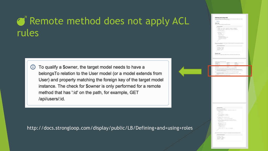 DŽ Remote method does not apply ACL rules http:/...