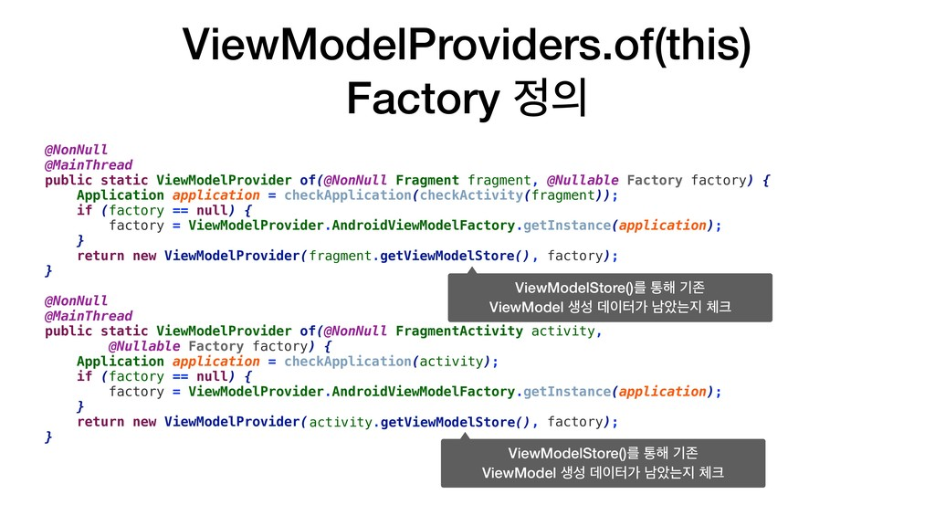 ViewModelProviders.of(this) Factory ੿੄ @NonNull...