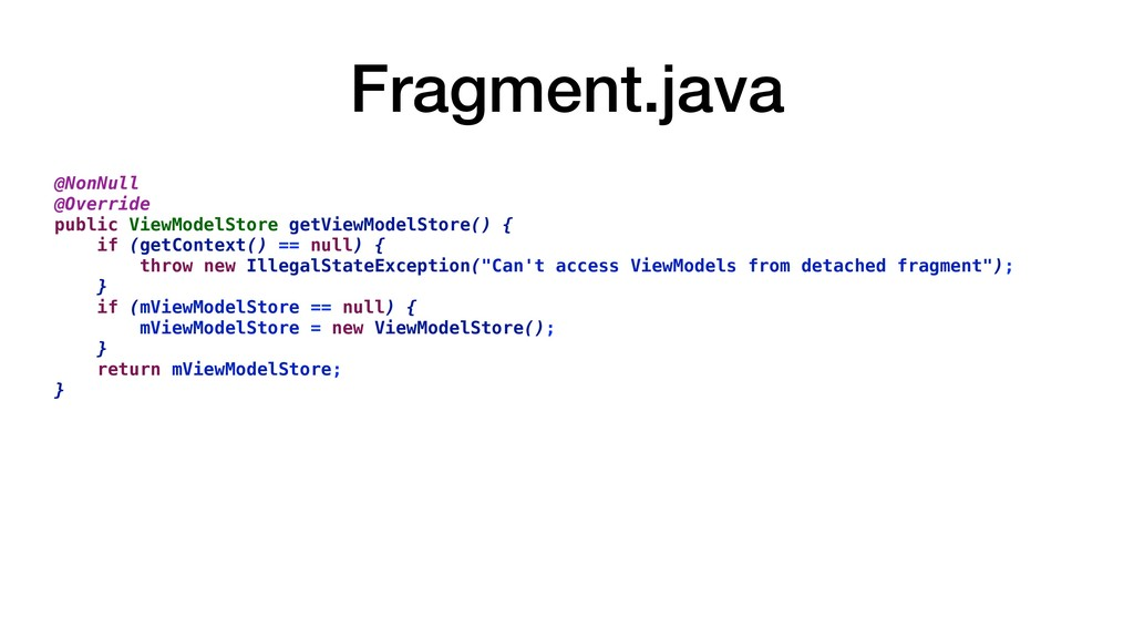 Fragment.java @NonNull @Override public ViewMod...