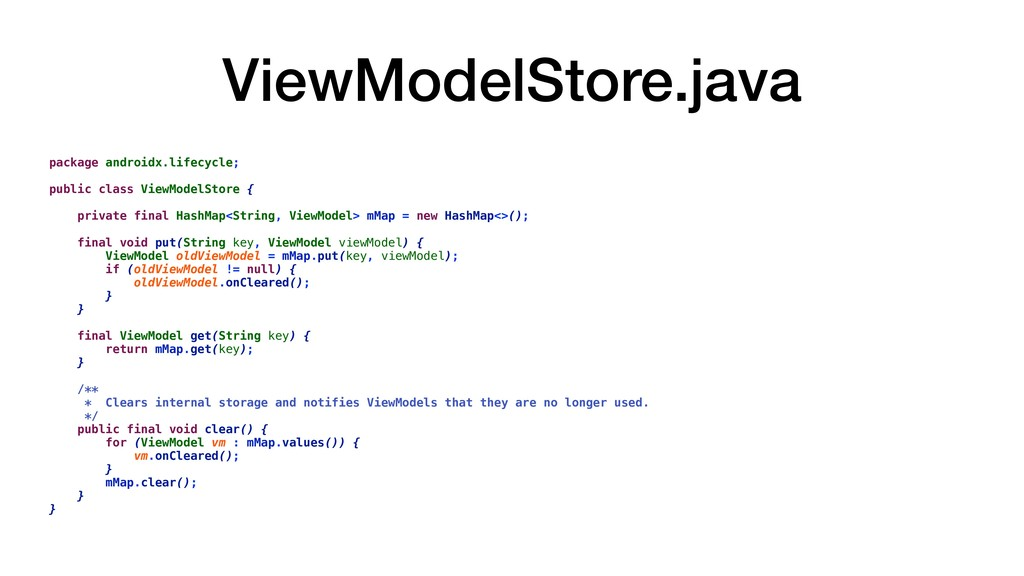 ViewModelStore.java package androidx.lifecycle;...