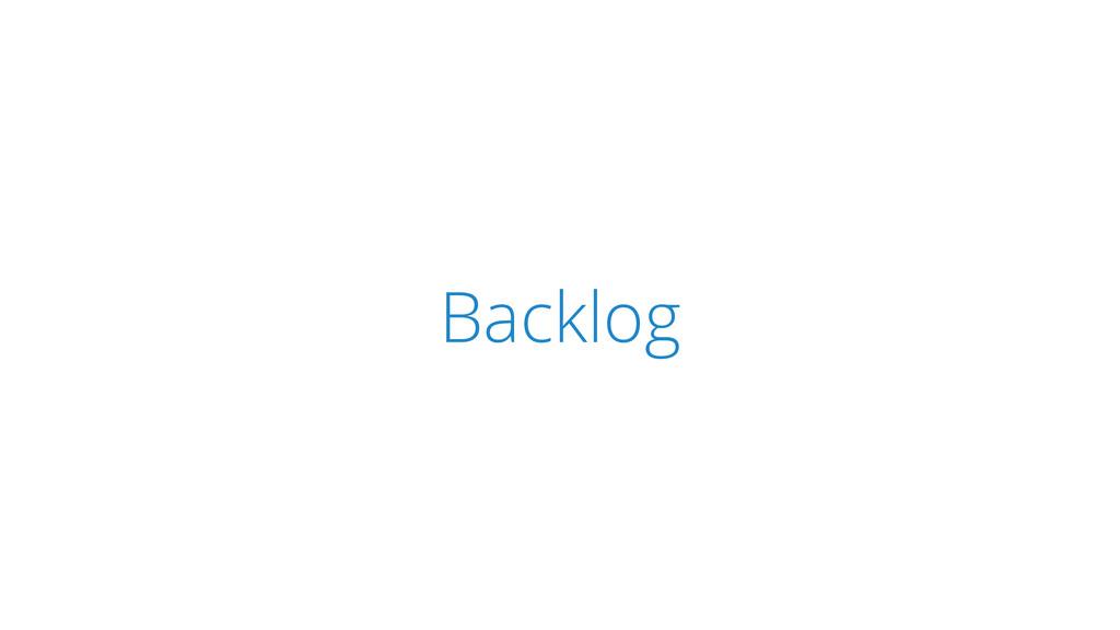 SCRUM Backlog