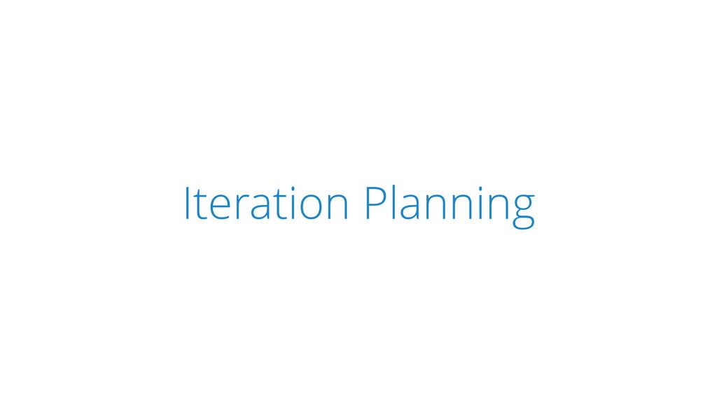 SCRUM Iteration Planning
