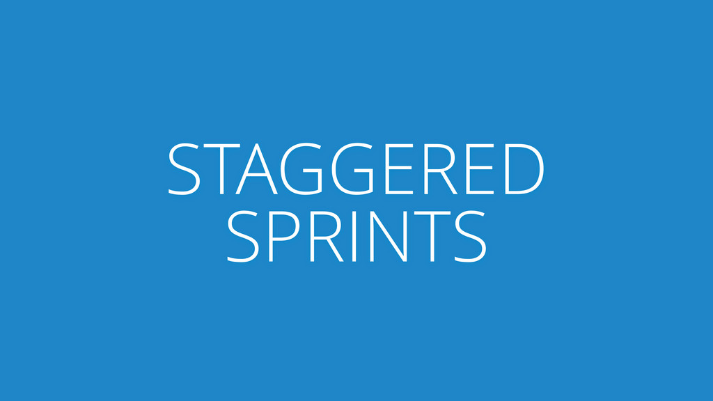 STAGGERED SPRINTS