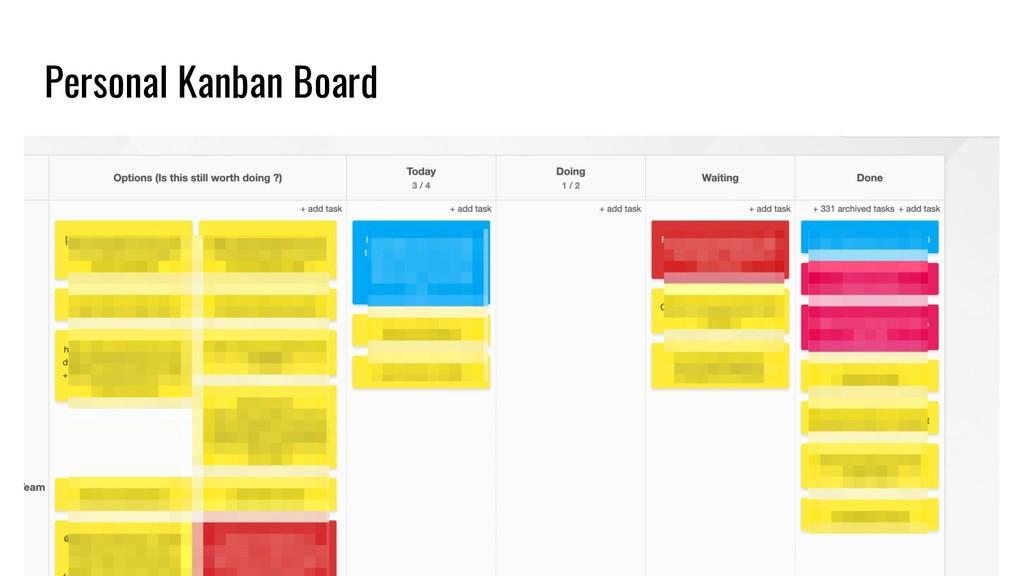 Personal Kanban Board