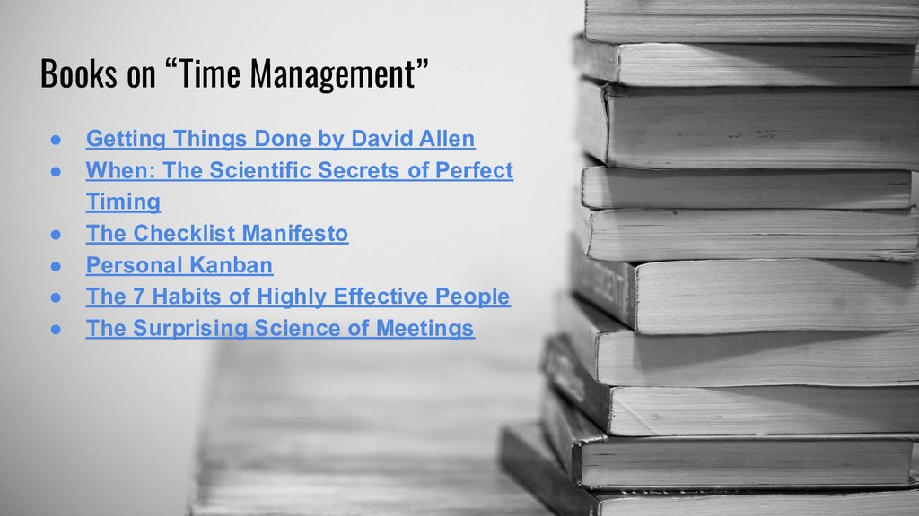 """Books on """"Time Management"""" ● Getting Things Don..."""