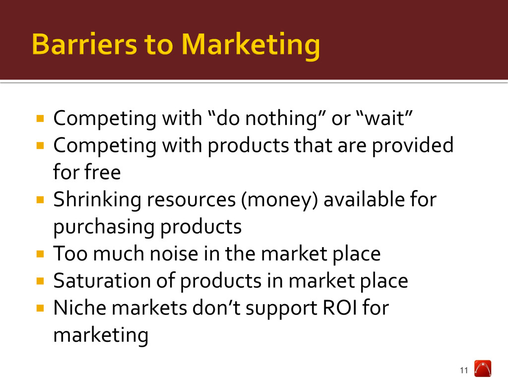 """ Competing with """"do nothing"""" or """"wait""""  Compe..."""