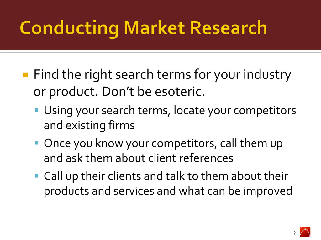  Find the right search terms for your industry...