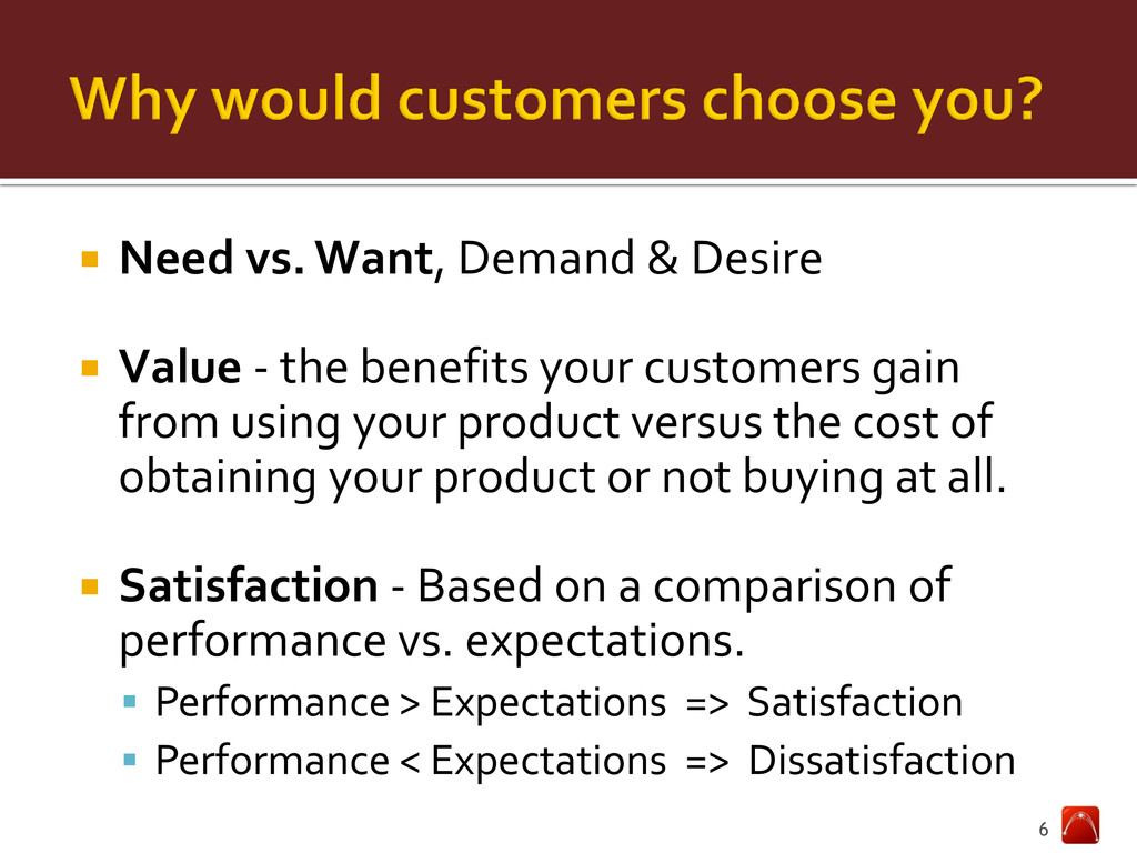  Need vs. Want, Demand & Desire  Value - the ...