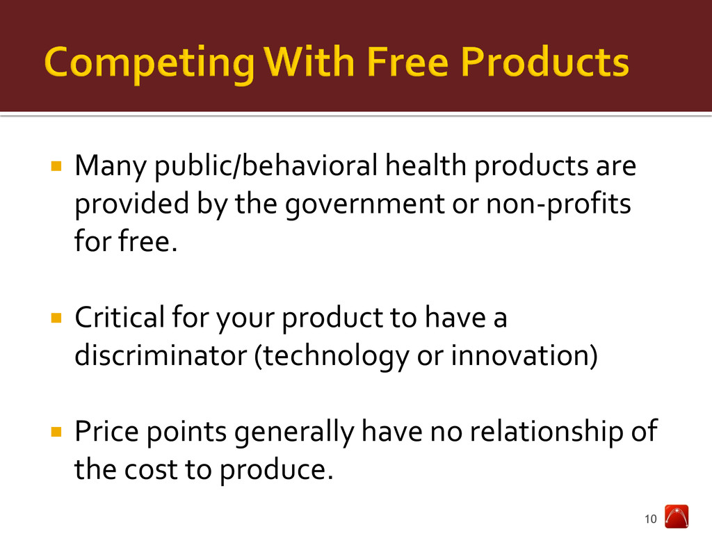  Many public/behavioral health products are pr...