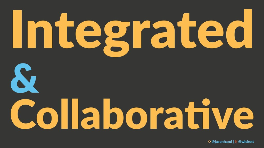 Integrated & Collabora've @jasonhand | @wicke0
