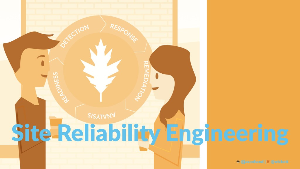Site Reliability Engineering @jasonhand | @wick...