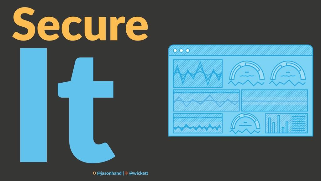 Secure It @jasonhand | @wicke0