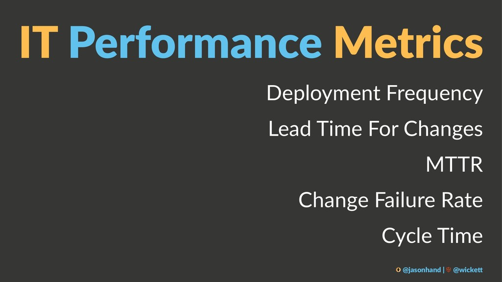 IT Performance Metrics Deployment Frequency Lea...
