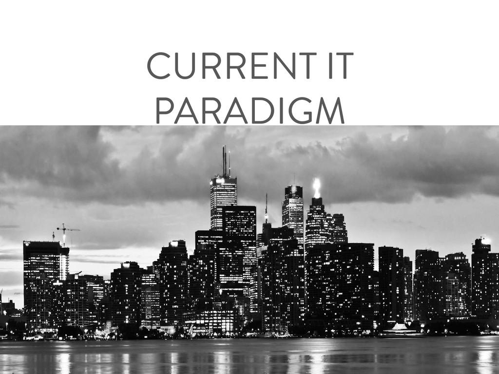 CURRENT IT PARADIGM