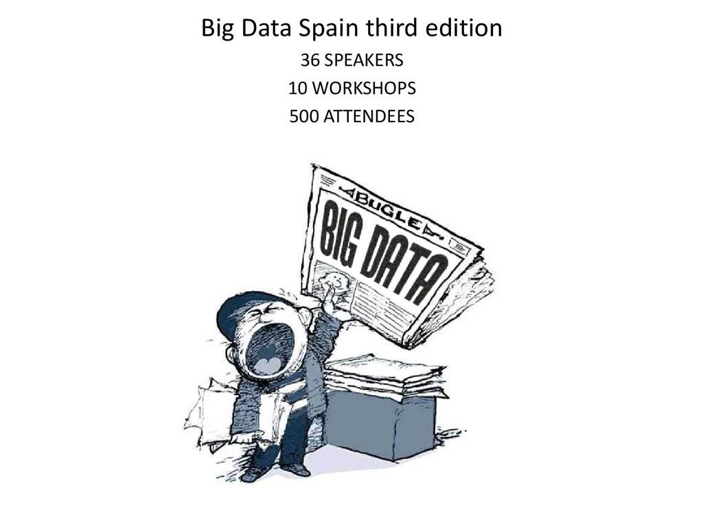 Big Data Spain third edition 36 SPEAKERS 10 WOR...